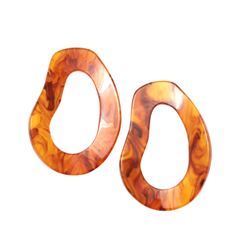 Серьги Aloud Желто-коричневые серьги-овалы erickson beamon серьги copacabana