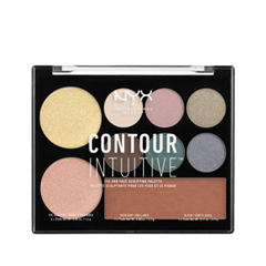 Для лица NYX Professional Makeup Contour Intuitive Palette 05 (Цвет 05 Smoke & Pearls variant_hex_name 86868E) nyx professional makeup палетка теней erfect filter shadow palette marine layer 05