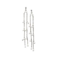 Серьги Herald Percy Серебристые серьги с жемчужными подвесками серьги с подвесками jv серебряные серьги с ювелирным стеклом se0422 us 001 wg