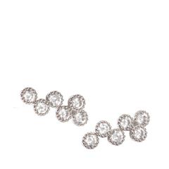 Серьги Herald Percy Серьги-пуссеты из круглых кристаллов серьги herald percy серьги с черными каплями и паве из дымчатых кристаллов