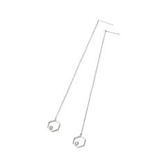 Серьги Herald Percy Серьги с геометрическими подвесками серьги с подвесками jv серебряные серьги с синт агатами и куб циркониями rjes 001430 02 ags 001 wg