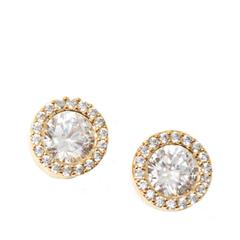 Серьги Herald Percy Золотистые круглые серьги с кристаллами herald percy колье с цирконами