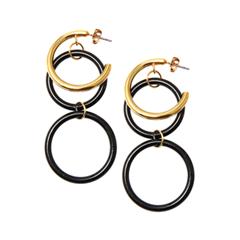 Серьги Herald Percy Черно-золотистые серьги-кольца серьги herald percy черно золотистые серьги кольца