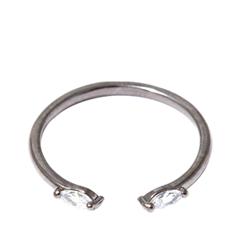 Кольца Herald Percy Незамкнутое черненое кольцо с кристаллами herald percy колье с кристаллами