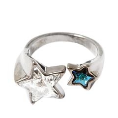 Кольца Herald Percy Незамкнутое кольцо с разноцветными звездами