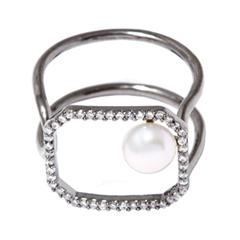 Кольца Herald Percy Незамкнутое кольцо с жемчужиной