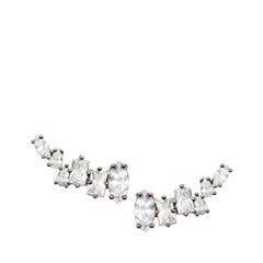 Серьги Herald Percy Серьги-пуссеты с крупными кристаллами серьги herald percy асимметричные серьги цветочной формы