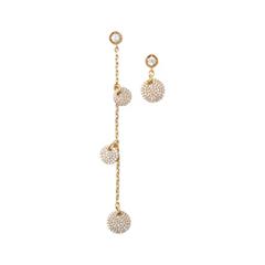 Серьги Herald Percy Золотистые асимметричные серьги с круглыми подвесками серьги herald percy золотистые асимметричные серьги цветочной формы
