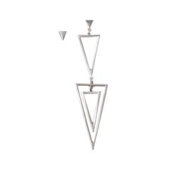 Серьги Aqua Асимметричные серьги-треугольники