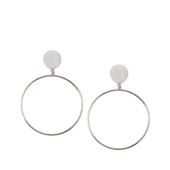 Серьги Aqua Серебристые серьги-кольца кольца кюз дельта 114454 d