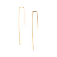 Серьги Aqua Золотистые серьги-палочки