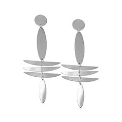 Серьги Aqua Серебристые серьги-стрекозы