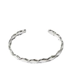 Браслеты Aqua Серебристый плетеный браслет
