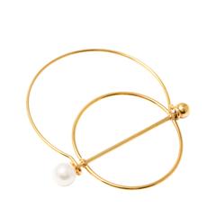 Браслеты Aqua Золотистый браслет с кругом и диаметром