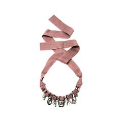 Колье Aqua Колье-цепь на темно-розовой ленте с дымчатыми кристаллами колье цепь qirong sf020
