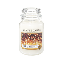 Ароматическая свеча Yankee Candle All is Bright Large Jar Candle (Объем 623 г) all the bright places