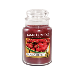 Ароматическая свеча Yankee Candle Black Cherry Large Jar Candle (Объем 623 г) 623 мл hotel crystal chandelier led candle holder lamps modern long large chandeliers villa living room hanging light free shipping