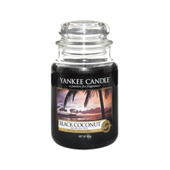 Ароматическая свеча Yankee Candle Black Coconut Large Jar Candle (Объем 623 г) 623 мл hotel crystal chandelier led candle holder lamps modern long large chandeliers villa living room hanging light free shipping