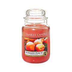 Ароматическая свеча Yankee Candle Summer Peach Jar Candle (Объем 623 г) 623 мл автомобильные ароматизаторы yankee candle авто ароматизатор сухой упаковка 3 шт полуденный пикник car jar variety 3 pk afternoon picnic