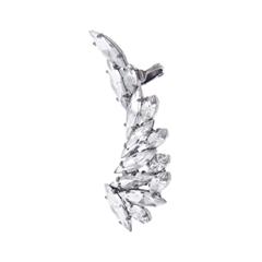 Серьги Herald Percy Кафф с кристаллами в виде крыла