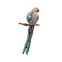 Броши Herald Percy Брошь-попугай сине-зеленого цвета толстовка сине гранатового цвета