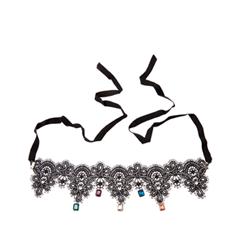 Колье Herald Percy Колье из черного кружева с разноцветными подвесками колье herald percy кружевное колье чокер