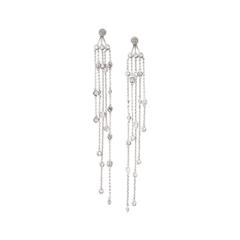 Серьги Herald Percy Серьги с подвесками-кристаллами на длинных цепочках серьги herald percy асимметричные серьги цветочной формы