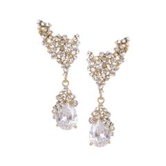 Серьги Herald Percy Серьги золотого цвета с белыми кристаллами herald percy колье с цирконами