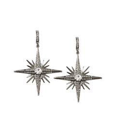 Серьги Herald Percy Серьги-звезды с круглыми кристаллами серьги herald percy серьги с черными каплями и паве из дымчатых кристаллов