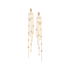 Серьги Herald Percy Золотистые серьги с кристаллами на длинных цепочках серьги herald percy асимметричные серьги цветочной формы