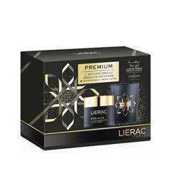 Антивозрастной уход Lierac Набор Coffret Premium Crème Voluptueuse Anti-Âge (Объем 50 мл+170 г) lierac премиум маска с гиалуроновой кислотой 75 мл premium