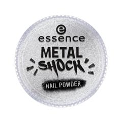 Дизайн ногтей essence Пудра для ногтей Metal Shock Nail Powder 01 (Цвет  01 Mirror, Mirror On The Nail  variant_hex_name E1E2E5) дизайн ногтей essence наклейки для ногтей bracelet nail stickers 10