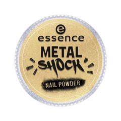 Дизайн ногтей essence Пудра для ногтей Metal Shock Nail Powder 04 (Цвет  04 A Touch Of Vintage  variant_hex_name E5D198) дизайн ногтей essence наклейки для ногтей bracelet nail stickers 10