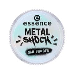 Дизайн ногтей essence Пудра для ногтей Metal Shock Nail Powder 06 (Цвет 06 Be My Little Mermaid  variant_hex_name B5E8EB) дизайн ногтей essence наклейки для ногтей bracelet nail stickers 10