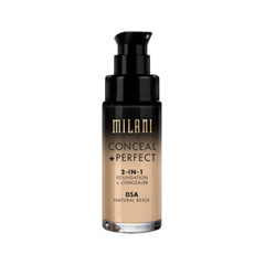 Тональная основа Milani Conceal + Perfect 2-in-1 Foundation + Concealer 05A (Цвет 05A Natural Beige variant_hex_name D4A477) корректоры missha the style perfect concealer light beige