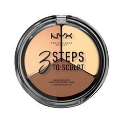 где купить Для лица NYX Professional Makeup 3 Steps To Sculpt Face Sculpting Palette 02 (Цвет 02 Light variant_hex_name FDD8A1) по лучшей цене