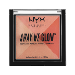 Хайлайтер NYX Professional Makeup Away We Glow Illuminating Powder 01 (Цвет 01 Summer Reflection  variant_hex_name D86D5B) пудры nyx professional makeup пудра hd high definition finishing powder translucent 01