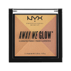 Хайлайтер NYX Professional Makeup Away We Glow Illuminating Powder 03 (Цвет 03 Candlelit  variant_hex_name DBAF6E) пудры nyx professional makeup финишная пудра nofilter finishing powder golden 11