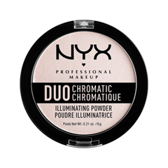 Хайлайтер NYX Professional Makeup Duo Chromatic Illuminating Powder 04 (Цвет 04 Snow Rose variant_hex_name EADADA) laura mercier пудра мерцающая illuminating powder pink rose