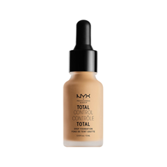 Тональная основа NYX Professional Makeup Total Control Drop Foundation 08 (Цвет 08 True Beige variant_hex_name CDA579) nyx professional makeup матирующая тональная основа stay matte not flat liquid foundation light beige 015