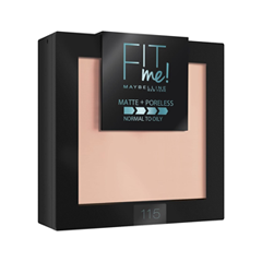 Компактная пудра Maybelline New York Fit Me! Matte & Poreless Powder 115 (Цвет 115 Слоновая кость variant_hex_name E3C0AC) new york к виллу