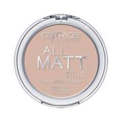 Пудра Catrice All Matt Plus Shine Control Powder (Цвет Natural Beige №015 variant_hex_name D3B4A8) хайлайтер catrice highlighting powder 015 цвет 015 merry cherry blossom variant hex name e7a5ab