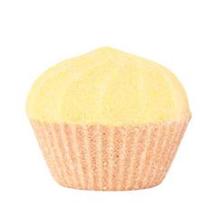 Бомба для ванны Мыловаров Бурлящий маффин Ванильно-сливочный десерт (Объем 150 г)