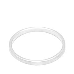 Кольца Aqua Матовое серебряное кольцо на верхнюю фалангу 15 (Размер 15) женские кольца jv женское серебряное кольцо с синт аметистом в позолоте 30 014 510 030 gams yg 18