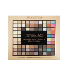 Тени для век Makeup Revolution Ultimate 144 Eyeshadow Palette Matte 2018 для глаз catrice the ultimate chrome collection eyeshadow palette