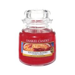 Ароматическая свеча Yankee Candle Rhubarb Crumble Small Jar Candle (Объем 104 г) ароматическая свеча yankee candle lavender small jar candle объем 104 г