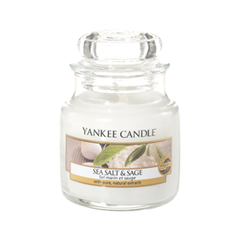 Ароматическая свеча Yankee Candle Sea Salt & Sage Jar Candle (Объем 104 г) вкусовая массажная свеча dona kissable massage candle chocolate mousse 135 г