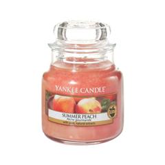 Ароматическая свеча Yankee Candle Summer Peach Small Jar Candle (Объем 104 г) ароматическая свеча yankee candle lavender small jar candle объем 104 г