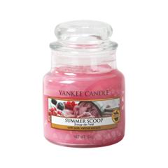 Ароматическая свеча Yankee Candle Summer Scoop Small Jar Candle (Объем 104 г) вкусовая массажная свеча dona kissable massage candle chocolate mousse 135 г
