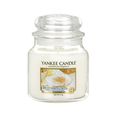 где купить Ароматическая свеча Yankee Candle Spiced White Cocoa Small Jar Candle (Объем 104 г) по лучшей цене